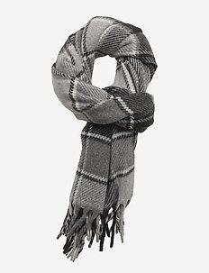 WOOL/CASH-BLKT 20X80-OBS-WOL - sjalar & halsdukar - black/grey