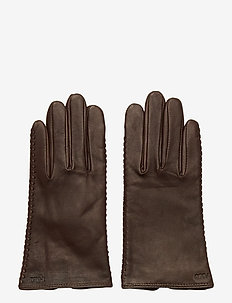 Stitched Sheepskin Gloves - gloves - country brown