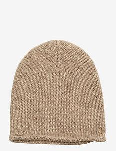 CASHMERE-CASHMERE DONEGAL HAT - CAMEL MELANGE