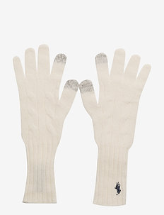WOOL/CASH-WL CASH CL CBL GLOVE - ANTIQUE CREAM