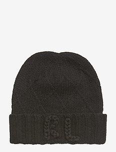 WOOL/NYLON-CHAINSTITCH RL HAT - BLACK
