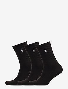 POLYESTER/NYLON-SUPERSOFT CR-SOX-3P - BLACK