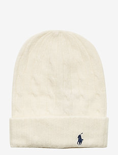 WOOL CASH-CABLE-HAT - beanies - cream