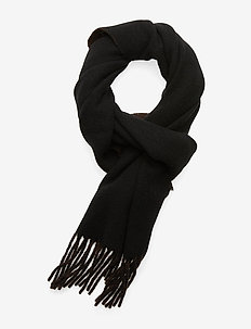 WOOL/NYLON-SIGN SCARF-OBS - scarves - black/brown
