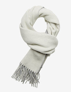 WOOL/NYLON-SIGN SCARF-OBS - CREAM/FAWN GREY