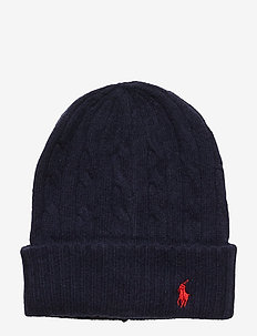 WOOL/CASHMERE-CABLE-HAT - beanies - navy