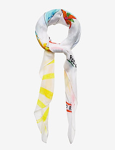 Jamaica-Print Wrap Scarf - sjalar & halsdukar - white multi