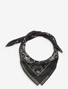 COTTON-RL VINTAGE BANDANA - szaliki i chusty - black