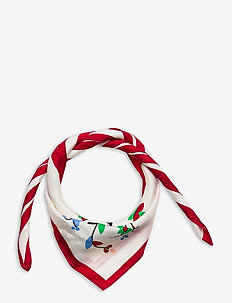Beaded Silk Scarf - scarves - white multi
