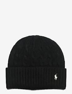 WOOL BLEND-WOOL CASHMER-HAT - mössor - polo black