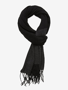 WOOL-WOOL COLORBL-OBS - scarves - black/charcoal