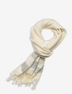 WOOL-WOOL BLANKET-OBS - scarves - cream/lt grey