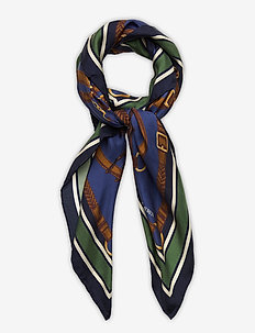 SILK-EQUESTRIAN S-OBS - scarves - blue