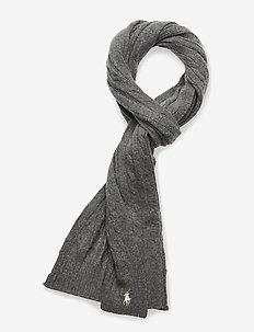 WOOL BLEND-WOOL CASHME-OBS - scarves - fawn grey hthr