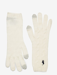 WOOL BLEND-WOOL CASHMR-GLV - gloves - cream