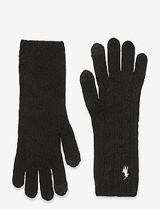WOOL BLEND-WOOL CASH-GLV - gants - black