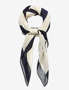 Signature Pony Cotton Scarf - schals - cream multi