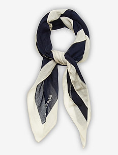 Signature Pony Cotton Scarf - Écharpes - cruise navy multi