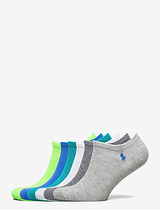 Low-Profile Sock 6-Pack - footies - blueshell/white