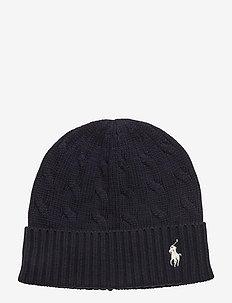 Cable-Knit Cotton Beanie - bonnets - hunter navy