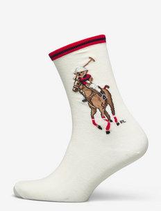 Polo Bear & Big Pony Crew Socks - skarpetki - ivory nrf 112