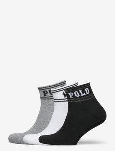 Logo Metallic-Stripe Sock 3-Pack - ankelstrumpor - bast nrf 930