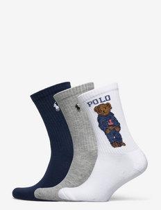 Polo Bear Crew Sock 3-Pack - vanliga strumpor - whast nrf 150