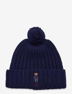Polo Bear Pom-Pom Hat - huer - hunter navy
