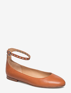 Kinsley Leather Ballet Flat - TAN
