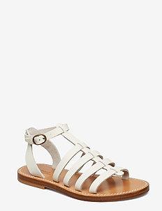 SMOOTH VACHETTA-JULIANNE-SN-CSL - flat sandals - white