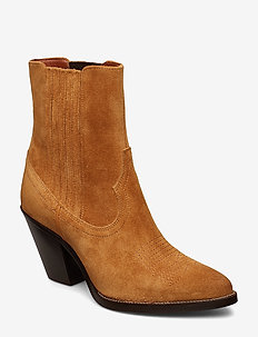 Lowrey Suede Cowboy Boot - SAND