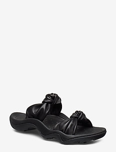 Knotted-Strap Leather Sandal - BLACK