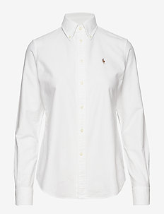 Custom Fit Cotton Oxford Shirt - BSR WHITE