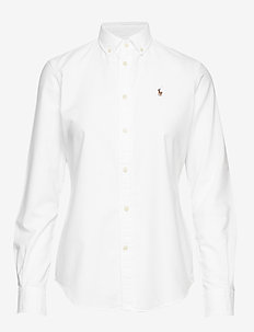 Slim Fit Cotton Oxford Shirt - BSR WHITE