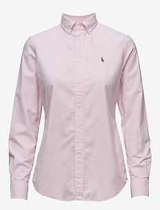 Slim Fit Cotton Oxford Shirt - DECO PINK