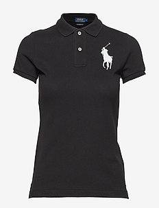 Skinny-Fit Big Pony Polo Shirt - polo black