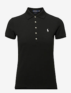 Slim Fit Polo Shirt - pikeepaidat - polo black/white