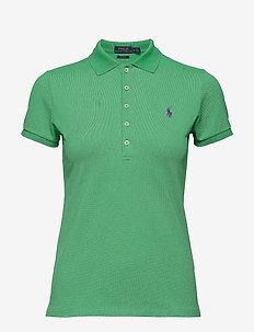 Skinny Fit Stretch Mesh Polo - VINEYARD GREEN
