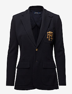 Knit Cotton Blazer - PARK AVENUE NAVY