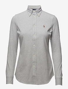 Knit Cotton Oxford Shirt - ANDOVER HEATHER