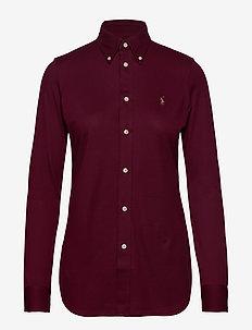 Slim Fit Oxford Shirt - CLASSIC WINE