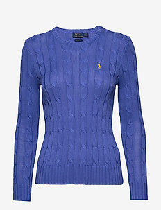 Cable-Knit Cotton Sweater - BAR HARBOR BLUE