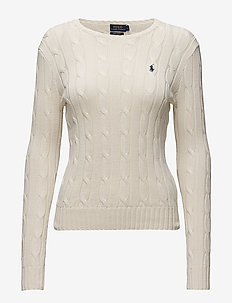 Cable-Knit Cotton Sweater - tröjor - cream