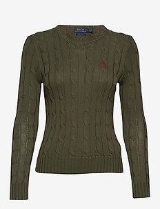Cable-Knit Cotton Sweater - DEFENDER GREEN