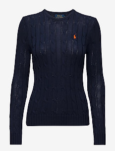 Cable-Knit Cotton Sweater - trøjer - hunter navy