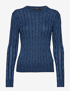 Cable-Knit Cotton Sweater - trøjer - indigo