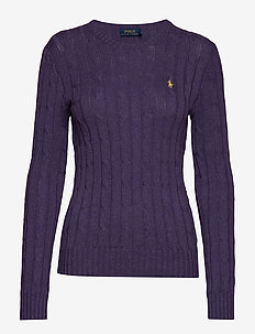 Cable-Knit Crewneck Sweater - INKBERRY HEATHER