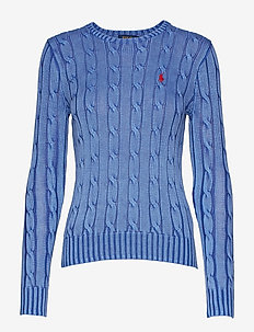 Cable-Knit Crewneck Sweater - MAIDSTONE BLUE