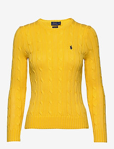 Cable-Knit Cotton Sweater - TRAINER YELLOW