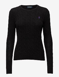 Wool-Cashmere Crewneck Sweater - POLO BLACK